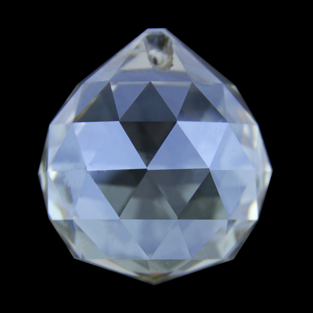 40mm Cognac 40pcs/lot K9 Crystal Prism Pendant Chandelier Prism Ball Drop Pendants Wedding Party Supply