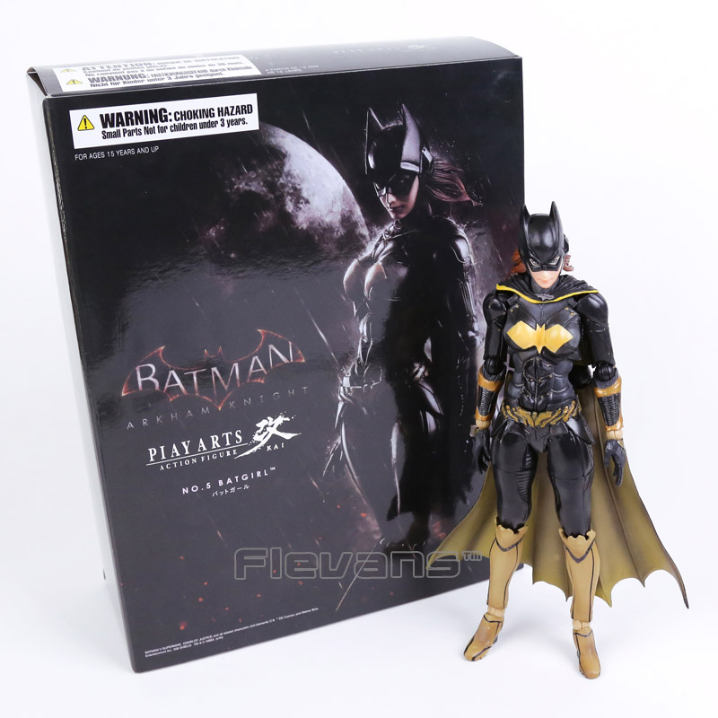 Play Arts Kai Batman Arkham Knight NO.5 Batgirl PVC Action Figure Collectible Model Toy halo 5 guardians play arts reform master chief action figure