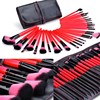 Lucky Red Color 32pcs Professional Makeup Brushes Set Make Up Tools Soft Hair Eyeshadow Cosmetic Kit