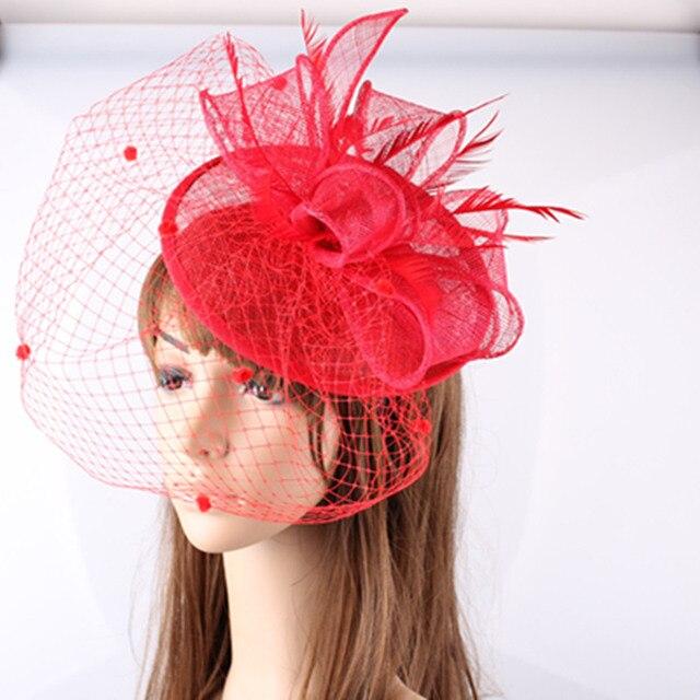 Sinamay cappelli nizza fascinators con velo per la cerimonia nuziale accessori  per capelli da sposa cappelli 0f5d3b3c0ba5