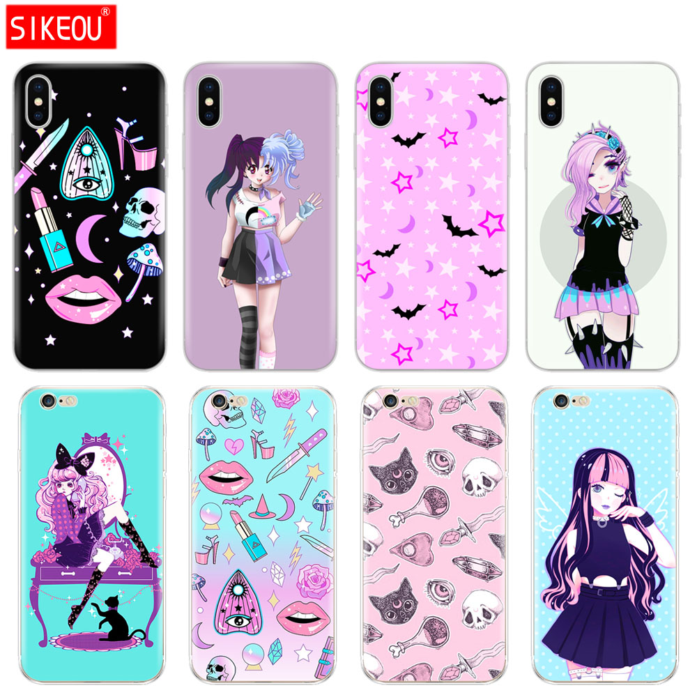 Silicone Cover Phone Iphone 6 X 8 7 6S