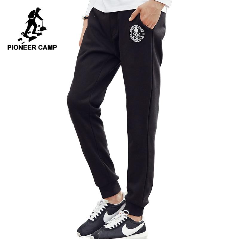 ed00aa52b92d51 Pioneiro Acampamento de Lã Grossa calça casual homens marca de roupas de  Outono inverno calças corredores sweatpants masculino qualidade superior ...