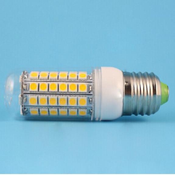 E26 лампа E27 E14 GU10 <font><b>G9</b></font> Светодиодные Лампы Кукурузы 5050 SMD 15 Вт 69 Светодиодов 1450LM С Крышкой 360 градусов Кукурузы Лампы Прохладный Теплый Белый 85 В-265 &#8230;
