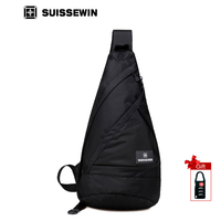 SUISSEWIN Casual Bags Fashion Sling Bag For Women And Man Waterproof Travel Chest Bag Shoulder Bag