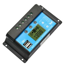 Solar Charge Controller 12V24V15A Solar Panel Charge Regulator Switching Controller With Universal USB 5V Charging LCD Display