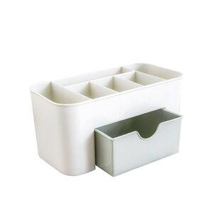 Image 5 - Creative תכליתי מחזיק עט שולחן עבודה מכתבים משרד פלסטיק מקרה אחסון תיבת בית ציוד משרדי סיטונאי