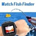 Беспроводной Наручные Часы Водонепроницаемый рыбы Часы Эхолот 60 м Эхо Глубина Рыбалка Sonar Датчика Эхолот Fishfinder Сигнализации Преобразователя