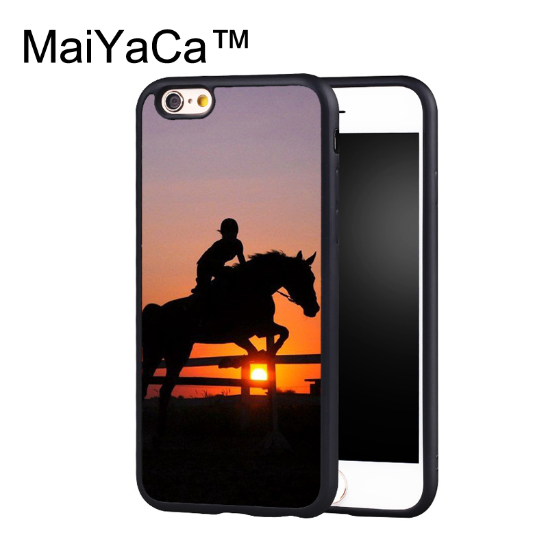 MaiYaCa Cowgirl Horse Sunset Case For iPhone 6 Plus Coque TPU Phone Back Cover For iPhone 6S Plus Bags Shell Cover