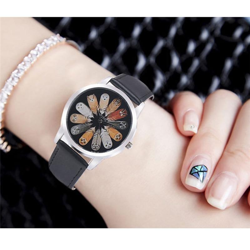 Owl Design Women Watch Luxury Casual Simple Quartz Clock For Women Leather Strap
