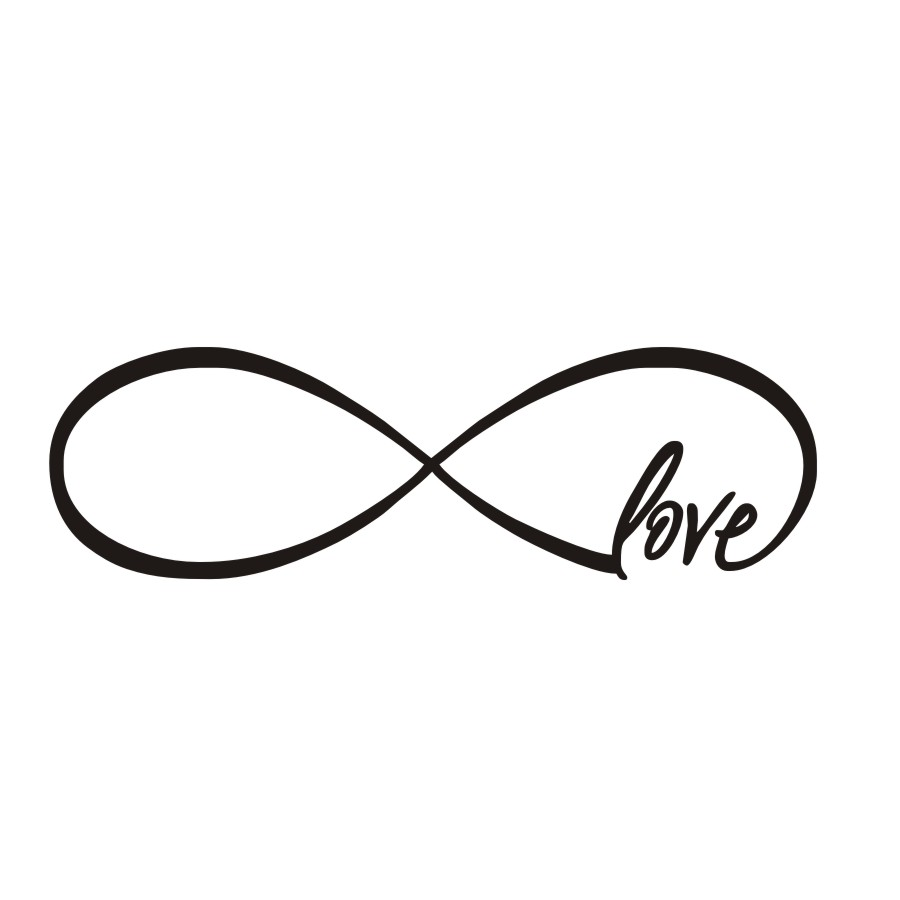 Personalized Infinity Symbol Love Bedroom Wall Decal Quotes Vinyl