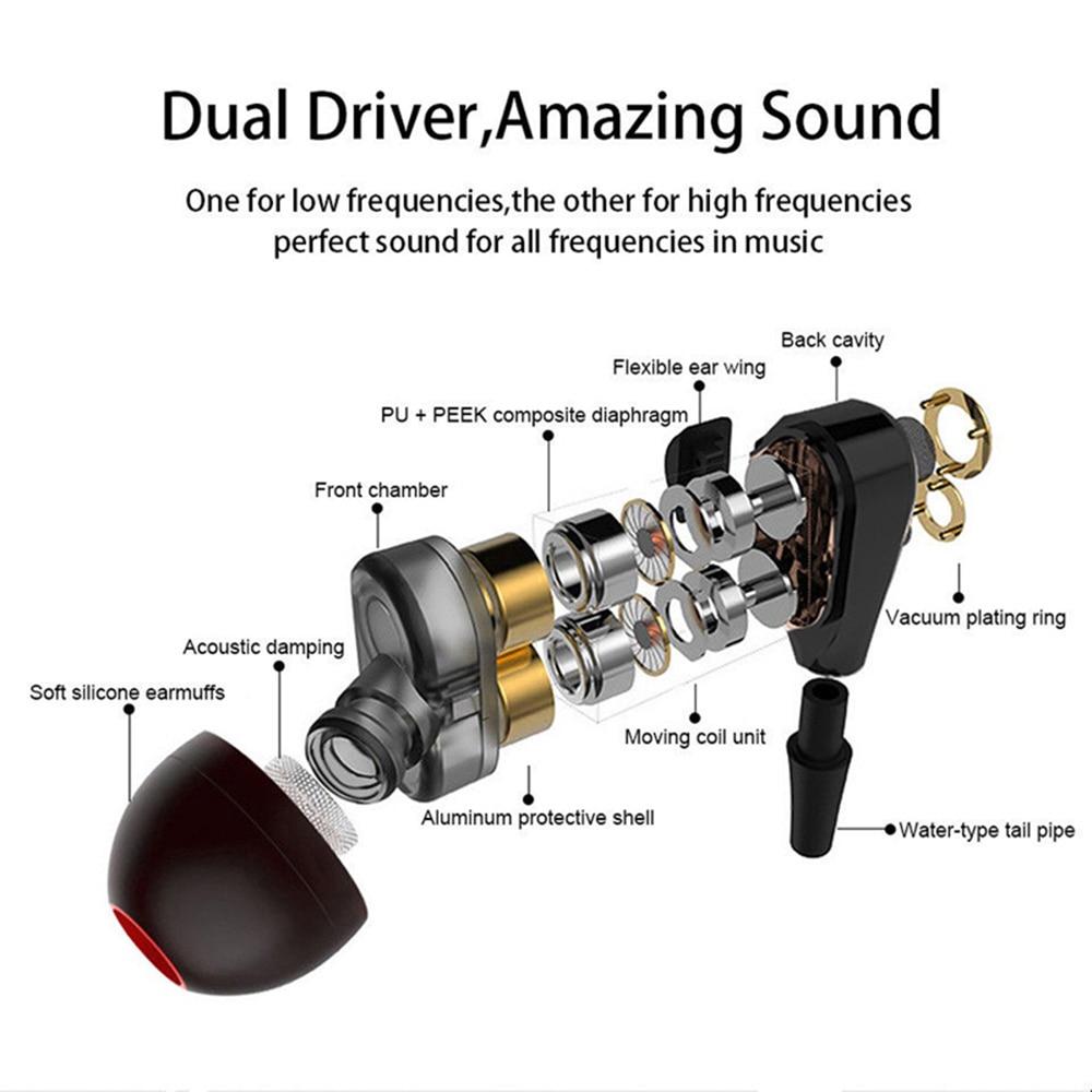 Auriculares inalámbricos Bluetooth auriculares banda deporte del auricular de 4 unidades de sonido estéreo de auriculares con micrófono para iPhone Samsung