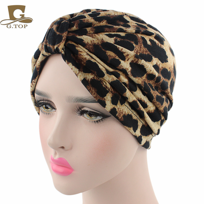 New Bohemian Style Cotton Floral Print Turban Hat Headband Wrap Chemo Bandana Hijab Pleated Indian Cap