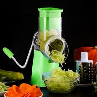 3Blades Multifunction Vegetable Chopper Slicer Stainless Steel Manual Vegetable Cutters Carrot Potato Cheese Grater Kitchen Tool