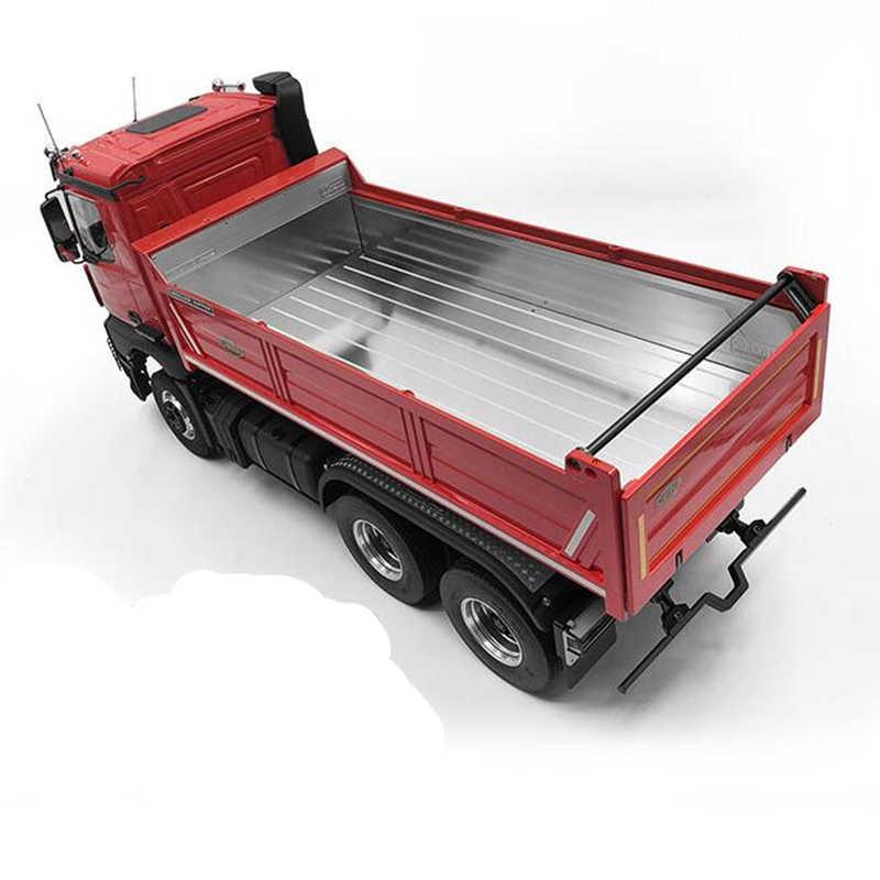 1/14 rc tamiya camión volquete cubo piezas decorativas de metal, especialmente tratada, placa para tamiya 1:14 benz arocs 3348 tractor de remolque