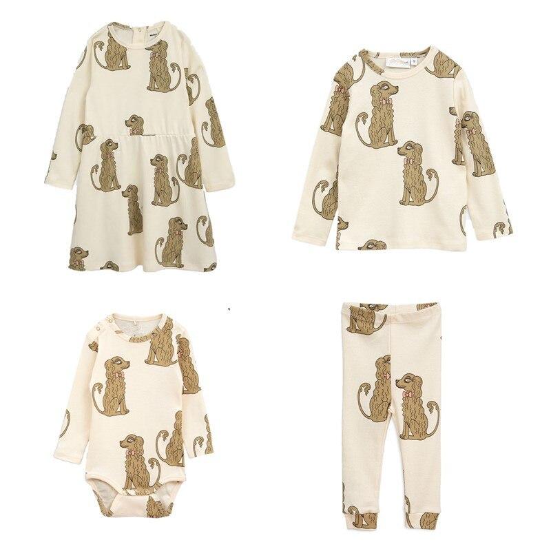 BOBOZONE 2018 F/W Spaniel DRESS BABY body Leggings and t-shirt for kids