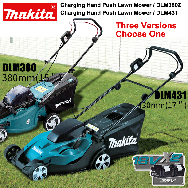 Japan Makita DLM380Z Rechargeable Grass Cutter Hand Push Lawn Mower Weeder DLM431 3700RPM Three Versions Choose One