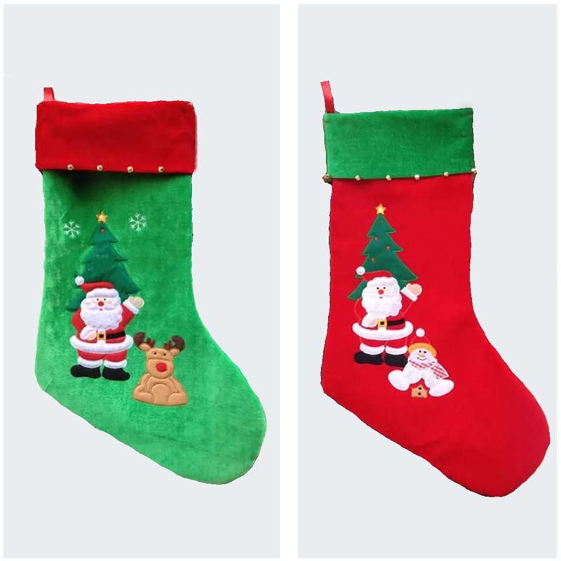 77cm/30.3 Inch Length Large Christmas Stockings With Santa