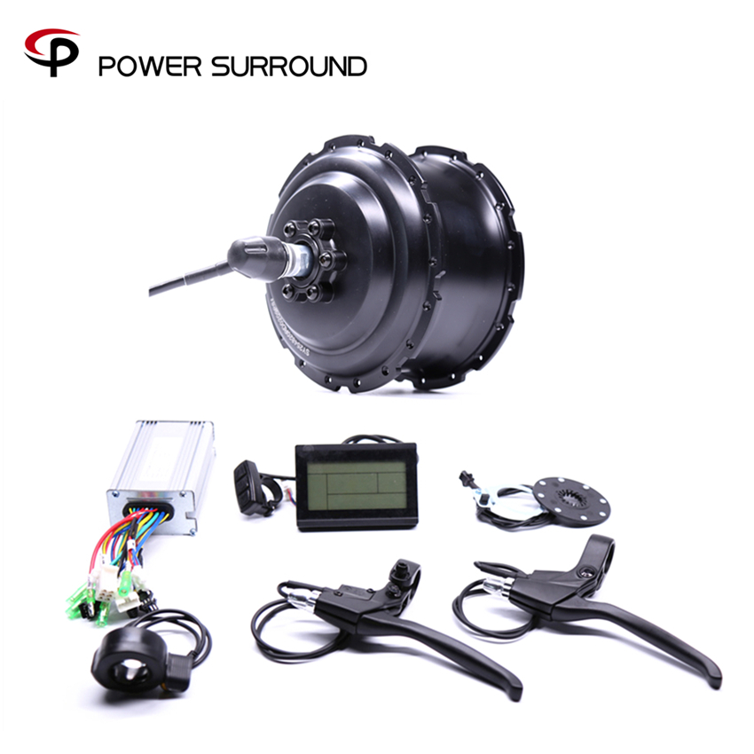2018 Eletrica 48v500w Fat Rear Brushless Hub Motor Snow Conversion electric Wheel ebike system