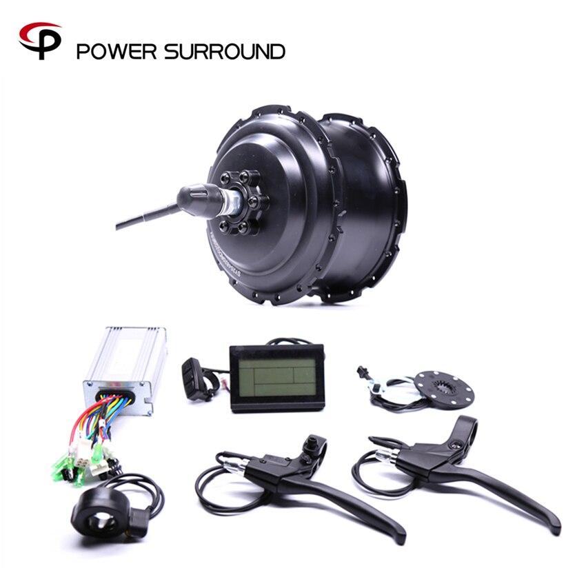 2019 Eletrica 48v500w Fat Rear Brushless Hub Motor Snow Conversion electric Wheel ebike system