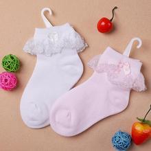 Тонкие летние девочки дети малышей белый розовый хлопок кружево рябить принцесса сетки носки, дешевые дети загрузки короткие носок sox