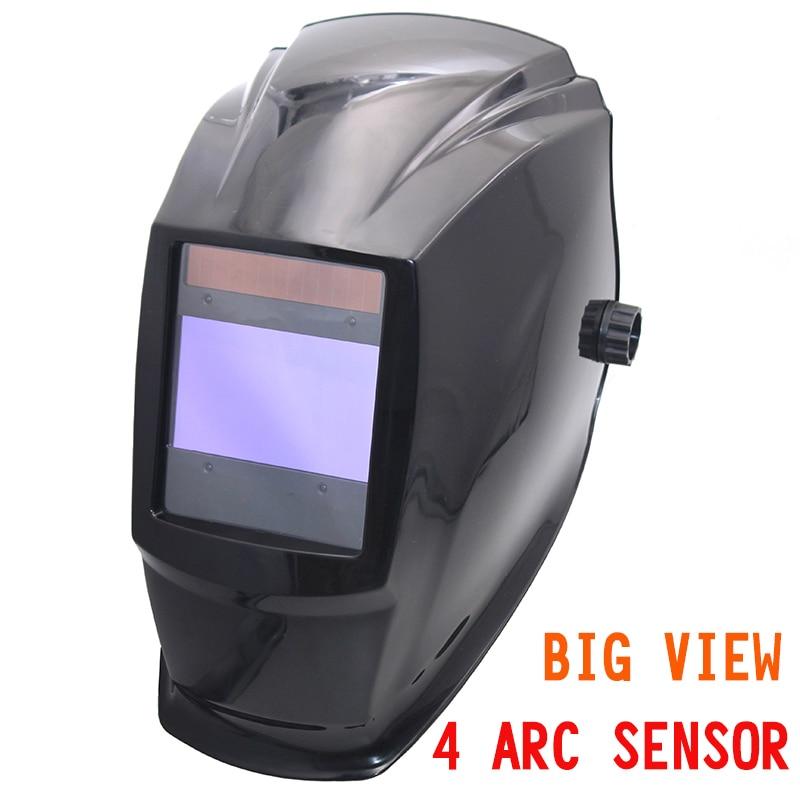 Grande area di visualizzazione filtro di scurimento auto Solare casco di saldatura/maschera/maschera saldatore Elettrico/gogglssfor TIG MIG MMA saldatrice