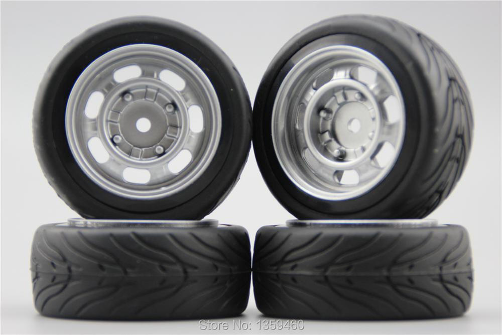 painting Silver 11083+rubber Tire Meticulous Dyeing Processes 4pcs Rc 1/10 Soft Rubber Touring Car Tire Tyre Wheel Rim Classic2s 6mm Offset