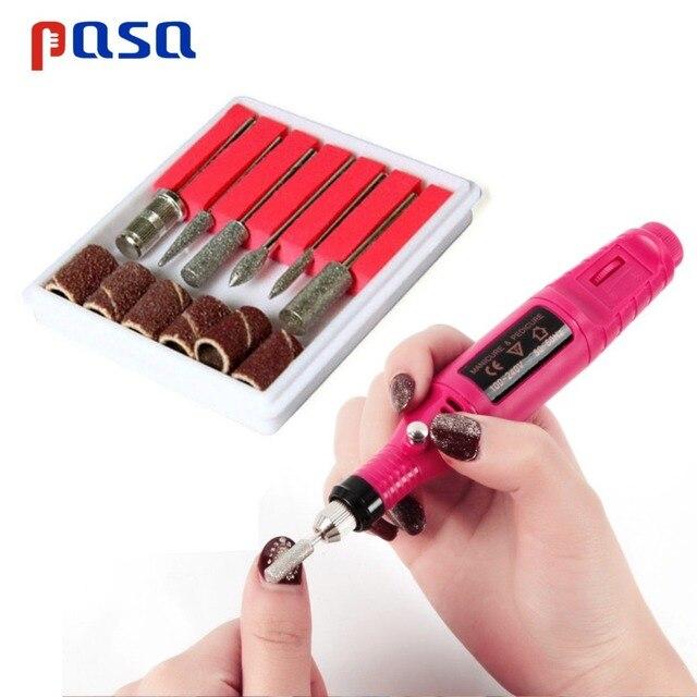 6Pc Nail Art Bohrer Ersetzen Schleifpapier Kopf Set mit Fall Gel Polnischen Tipps Schleifen Polieren Gestaltung Maschine Dreh tool Kits