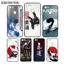 Silicone Phone Bag For OPPO F5 F7 F9 A5 A7 R9S R15 R17 Black Soft Case Japan Judo Style