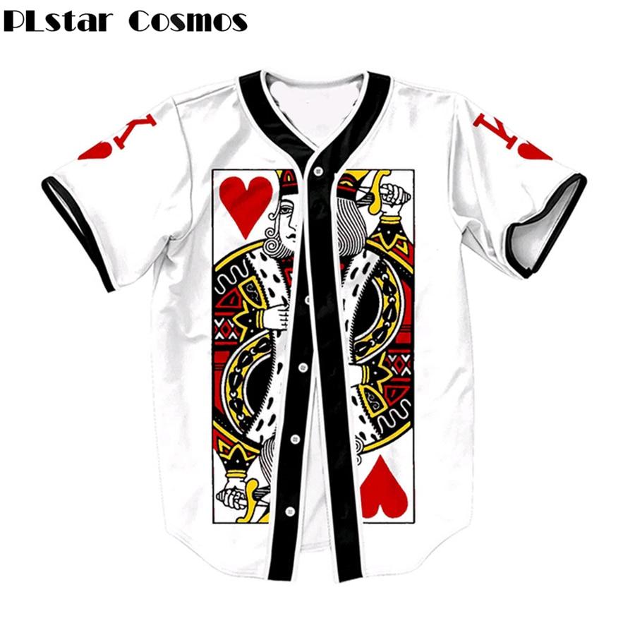 PLstar Cosmos pokerji King of Hearts 3d natis s kratkimi rokavi - Moška oblačila