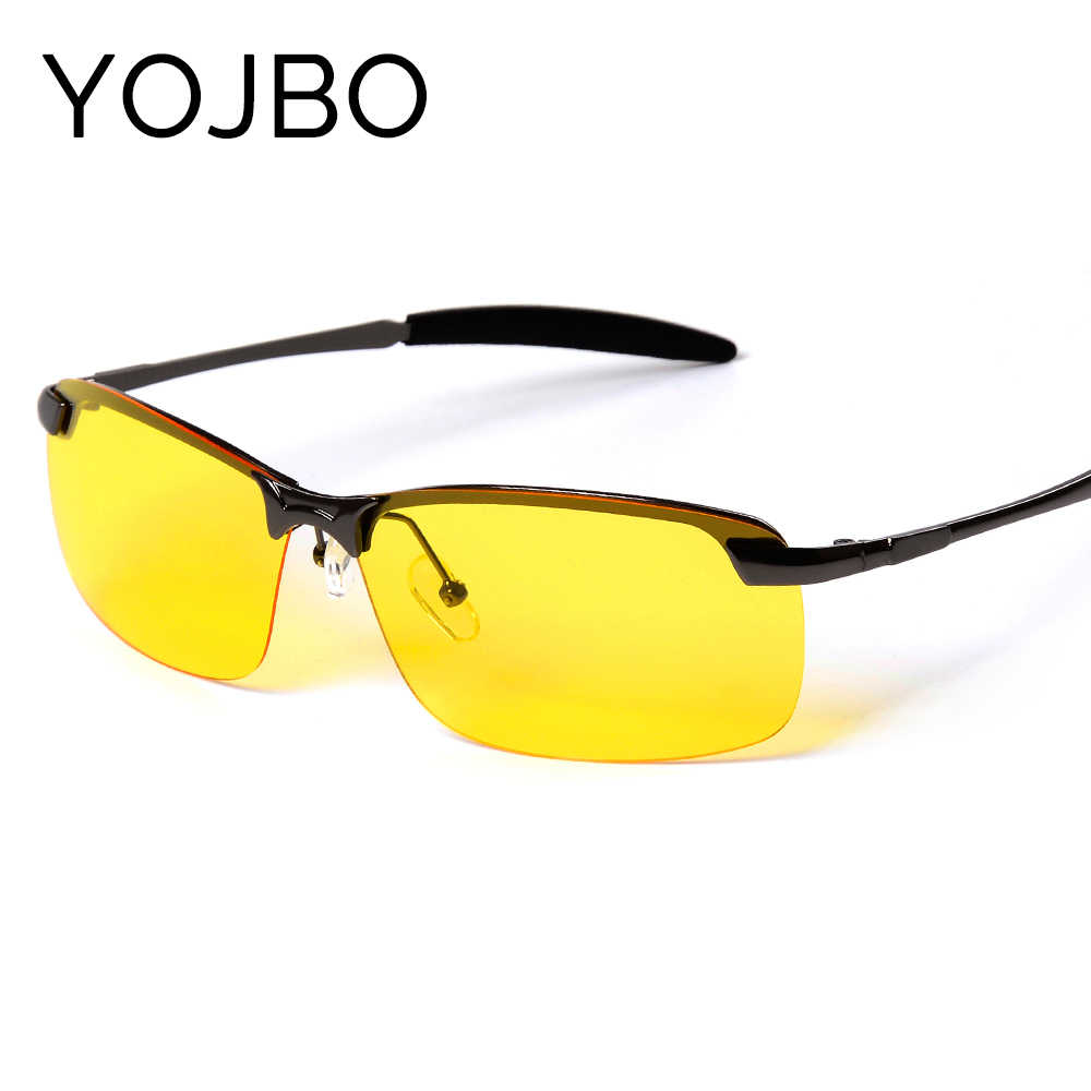 YOJBO Men Night Driving Sunglasses Polarized Night Vision Male Glasses 2019 New Fashion Classic Designer Brand Yellow Anti Glare
