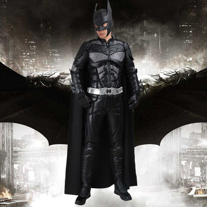 e2d6af420 Batman Cosplay Bruce Wayne Costume The Dark Knight Rises Cosplay Clothing  Adult Superhero Outfit Full Set