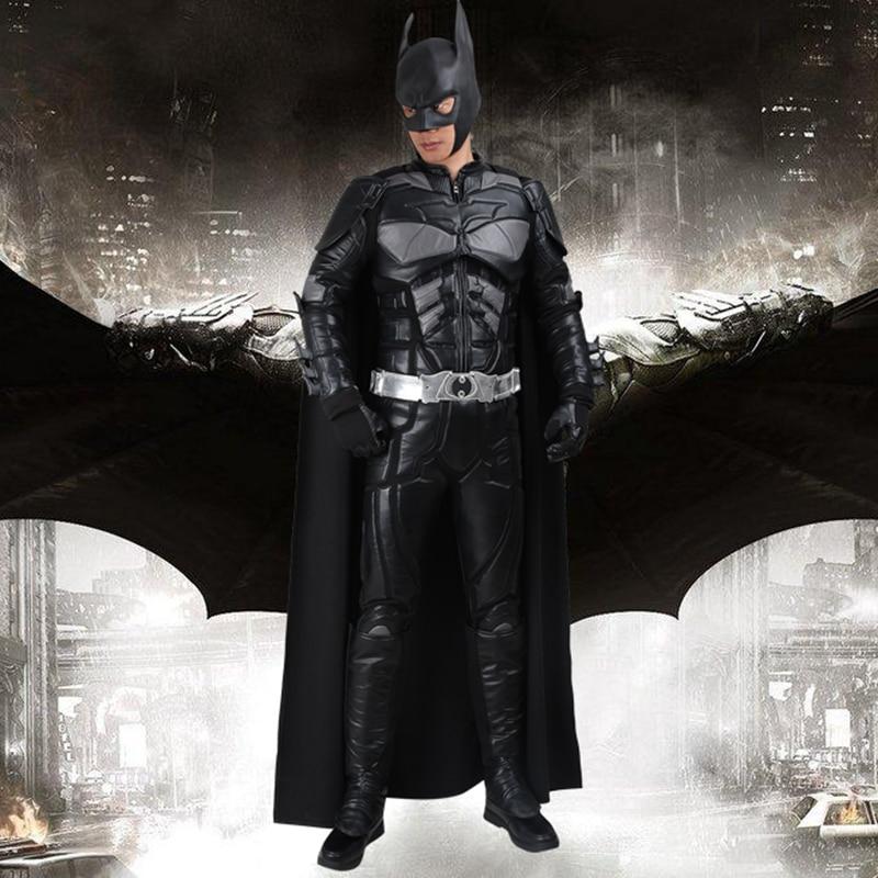 Cosplay Batman Bruce Wayne Gwisg Y Dark Knight yn Codi Dillad Cosplay - Gwisgoedd