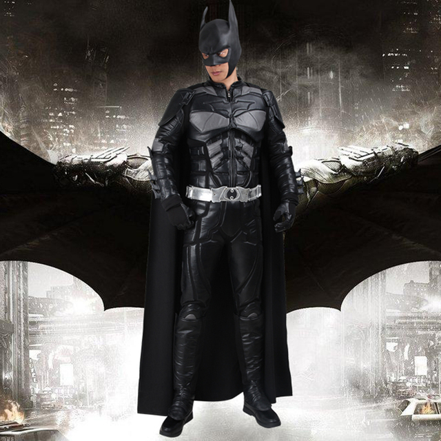 Batman Cosplay Costume Bruce Wayne Cape The Dark Knight Rises Cosplay Clothing Superhero Outfit Full Set & Batman Cosplay Costume Bruce Wayne Cape The Dark Knight Rises ...