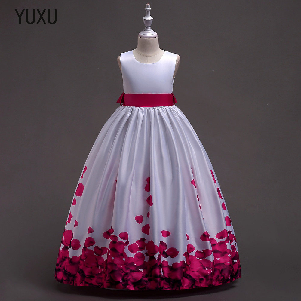 цена на 2018 Romantic appliques Lace Flower Girl Dress for Weddings Tulle Ball Gown Girl Christmas Party Communion Dress Pageant Gown