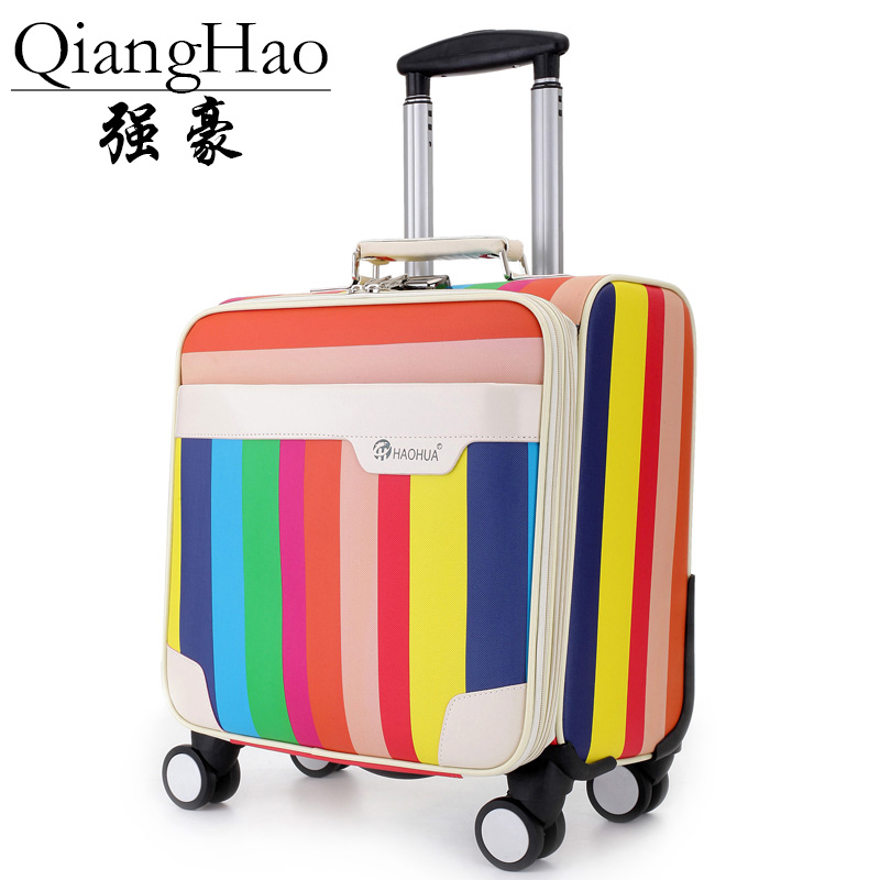 Business casual travel luggage Bags men s board chassis suitcase caster 16 inch trolley oil skin