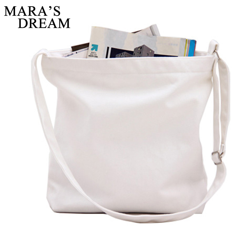 Maras Dream 2018 Fashion Women Girls Canvas Shopping Candy Color Handbag Shoulder Tote Shopper Crossbody Bag Mutil-color Bag
