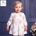 DB4368 DAVEBELLA nova primavera de algodão meninas vestido floral vestido de princesa vestido de crianças vestido boutique vestido de Sakura