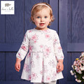 DB4368 DAVEBELLA spring new girls cotton floral dress princess dress children boutique dress Sakura dress