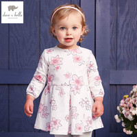 DB4368 DAVEBELLA Spring New Girls Cotton Floral Dress Princess Dress Children Boutique Dress Sakura Dress