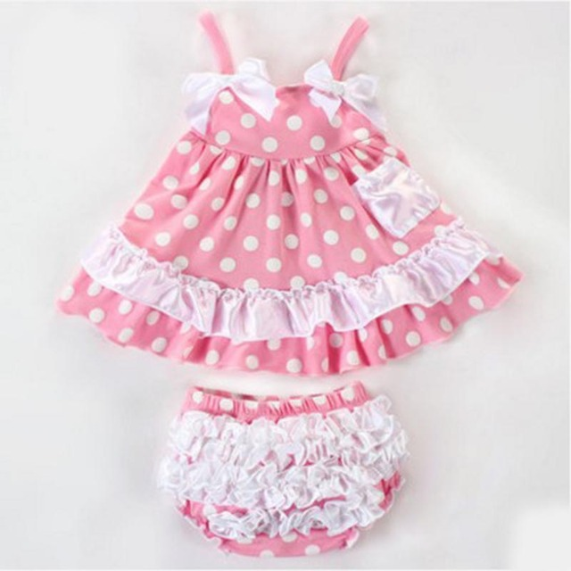 c340a02ad215 2016 new children's clothing baby girls summer Korean dress princess dress 0 -2 year old