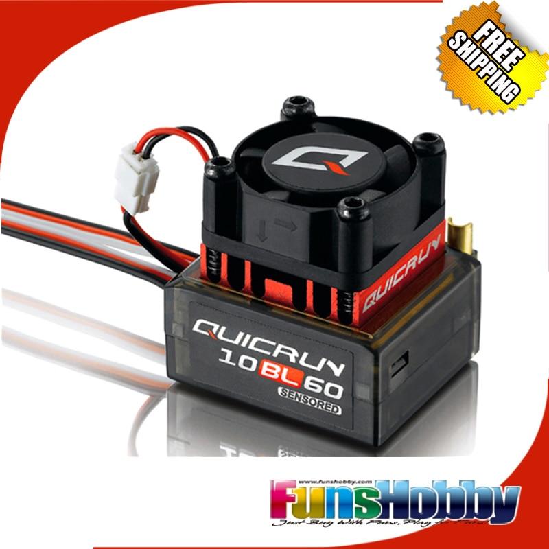 Hobbywing 1/10 1/12 RC Model On Road Off Road Buggy F1 Drift Car Brushless Sensor 60A ESC Quicrun 10BL60 стоимость