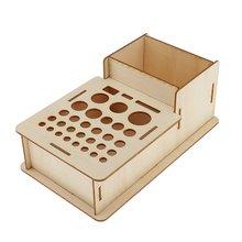 Деревянный ящик для хранения инструменты для студийного моделирования кисти для макияжа стойка выставочный элемент художественные принадлежности аксессуары