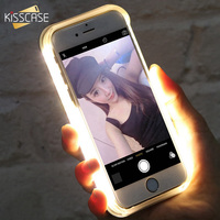 Luxury New LED Light Selfie Hard Back Cover Case For Iphone 6 6s 6Plus Luminous Flash