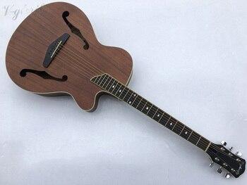 Акустическая электрическая гитара с отверстием F и тюнером, Бесплатная доставка/матовая хромированная литая гитара электрическая