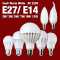 E27 E14 Screw 2W 3W 5W 7W 9W 12W Warm White LED Bulb Light Lamp Energy Saving 5730 220V SMD EB2120