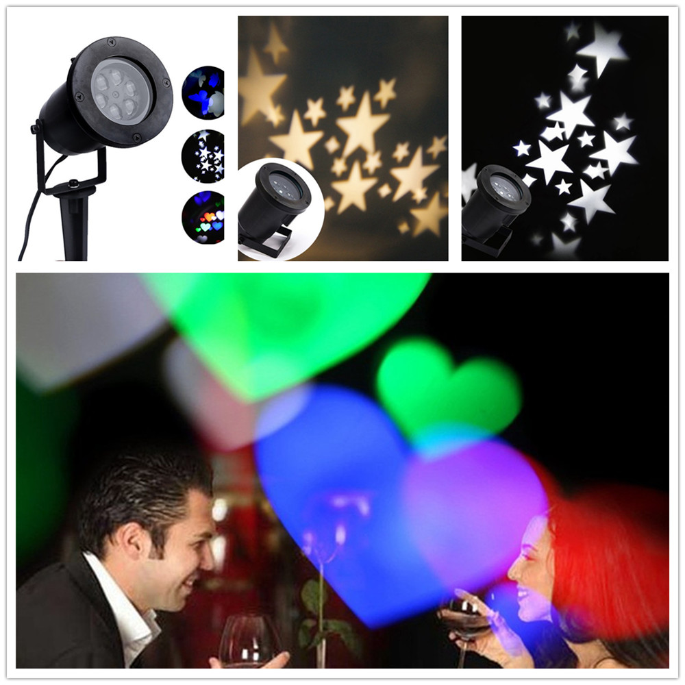 Лазерный проектор Лампы для мотоциклов свет этапа сердце снег паук бантом Bat для рождественской вечеринки пейзаж свет лампы сад Наружное ос…