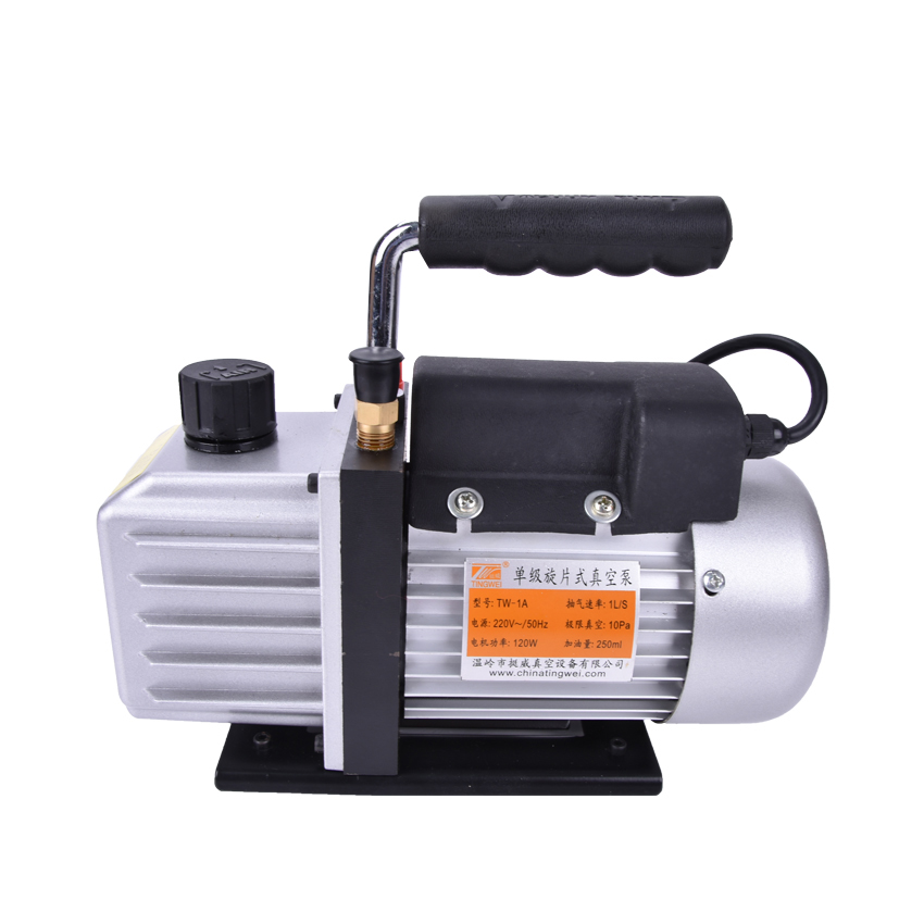 220V/50Hz Portable Mini Air Vacuum Pump TW-1A Air Compressor 10PA 1L/S 250ml Use for refrigeration,Vacuum packaging ect. 1l s 2 12cfm r134a rotary vane single stage mini vacuum pump for vacuum refrigeration air conditioning refrigerator