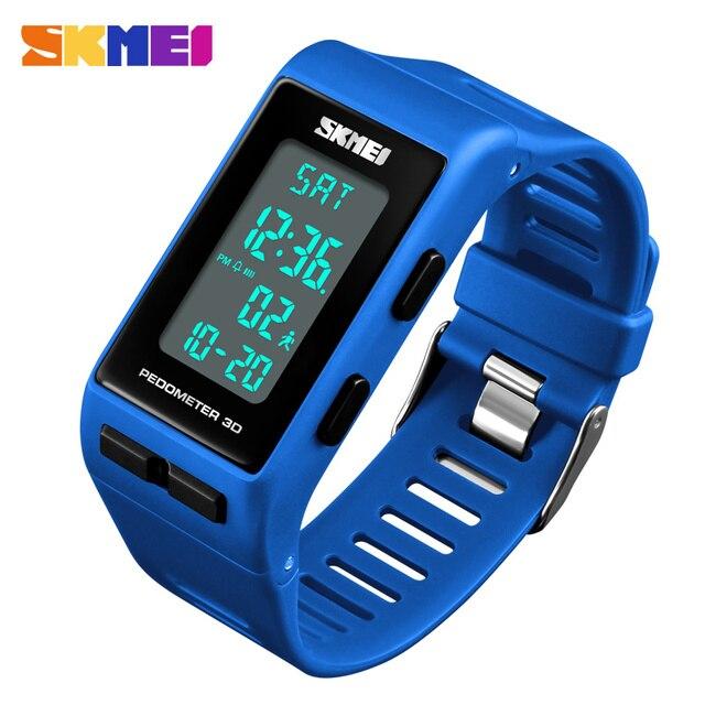 61b70505fa7b SKMEI Kadın Spor İzle Adımsayar Kalori Dijital Saat su geçirmez led  Elektronik Bayanlar Bilek Saatler Relogio Feminino
