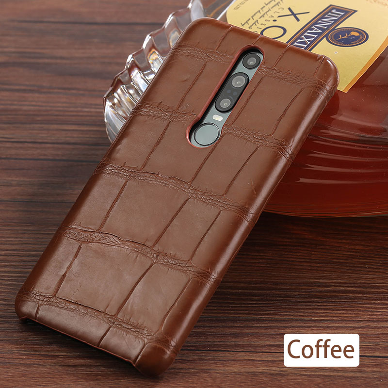 Genuine Crocodile Leather luxury cell phone case for Huawei Mate 20 30 P20 P30 Pro Lite Cover For Honor 20 Pro 10 10i v20 8x 9X - 6