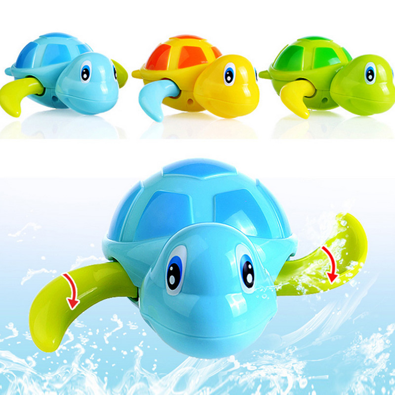 2018 New 3 Pcs Float Pool Wind Up Baby Bath Toys Swimming Tub Bathtub Cute Turtle for Kids Boys Girls 88